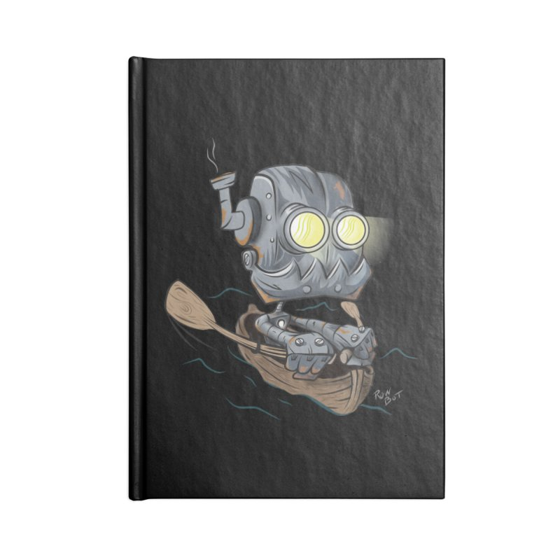 Row-bot Accessories Lined Journal Notebook by Dijanni's Artist Shop