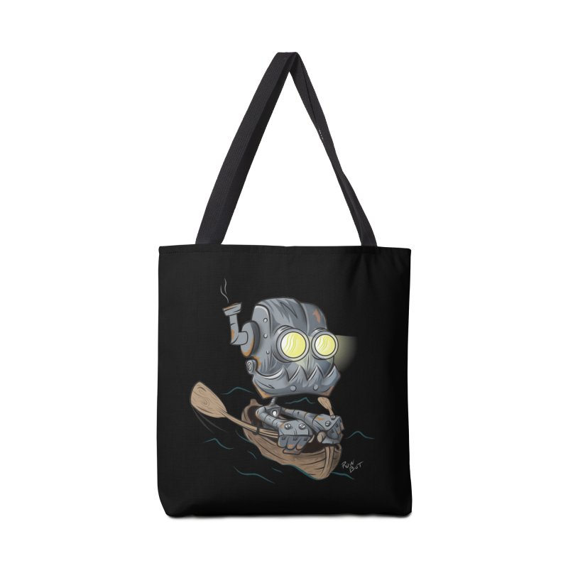 Row-bot Accessories Tote Bag Bag by Dijanni's Artist Shop