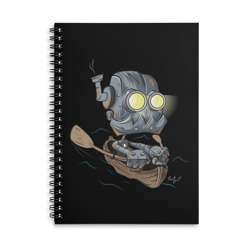 Row-bot Accessories Lined Spiral Notebook by Dijanni's Artist Shop