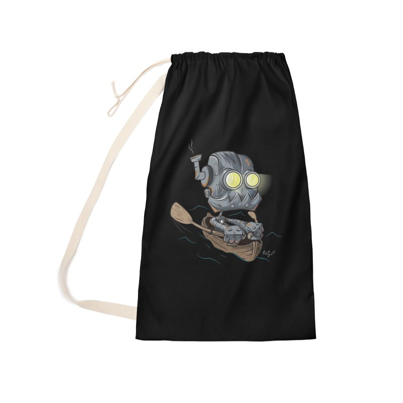 Row-bot Accessories Laundry Bag Bag by Dijanni's Artist Shop