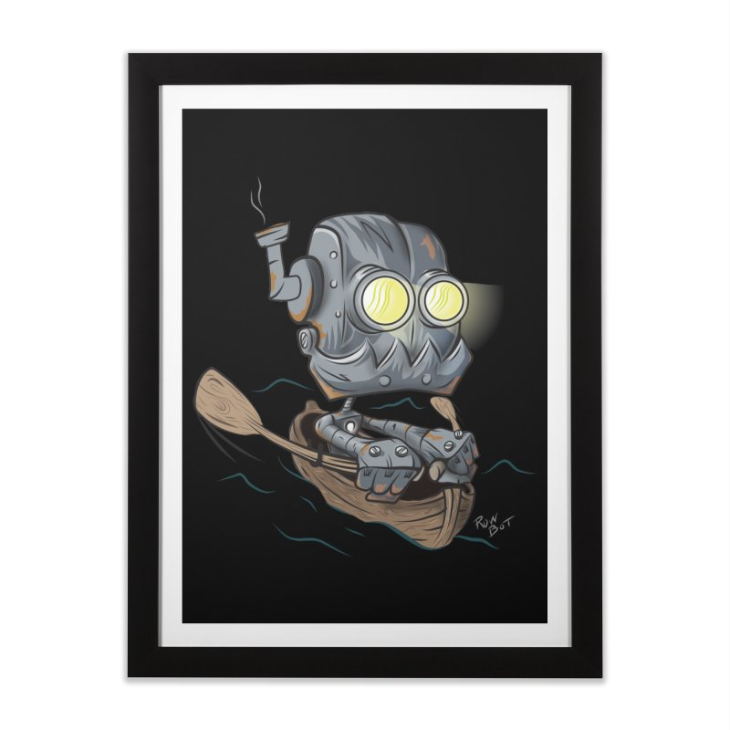 Row-bot Home Framed Fine Art Print by Dijanni's Artist Shop