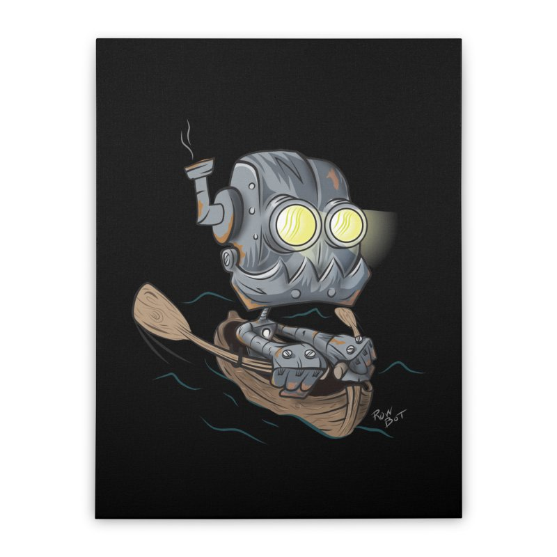 Row-bot Home Stretched Canvas by Dijanni's Artist Shop