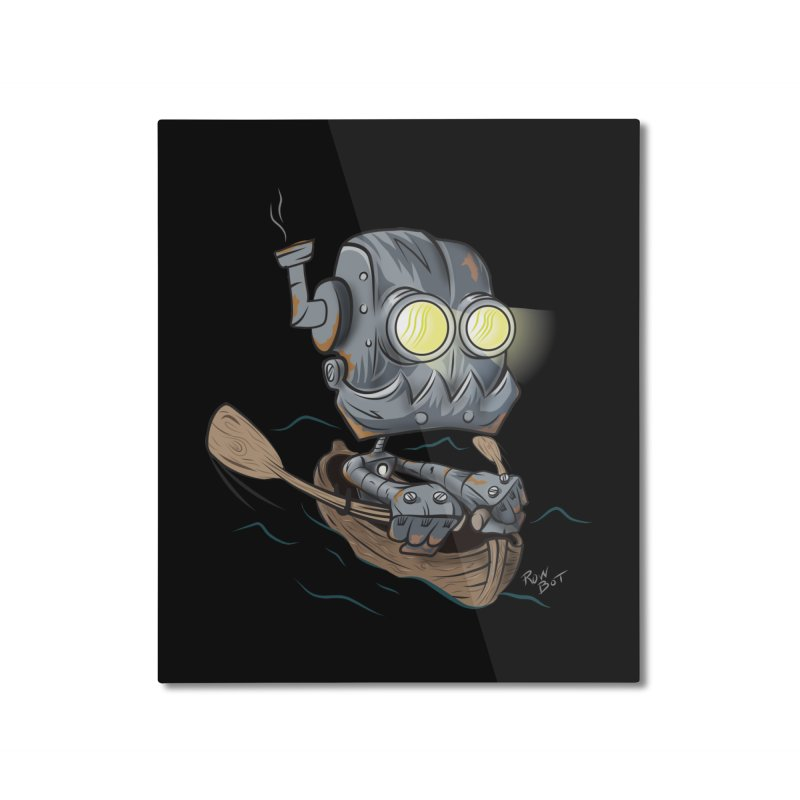 Row-bot Home Mounted Aluminum Print by Dijanni's Artist Shop