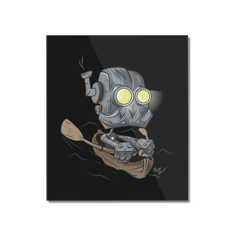 Row-bot Home Mounted Acrylic Print by Dijanni's Artist Shop