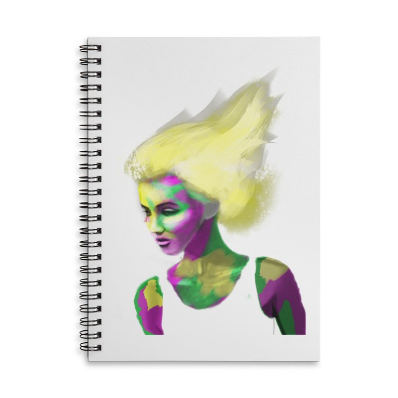 Holi Accessories Lined Spiral Notebook by Dijanni's Artist Shop