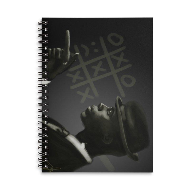 Tic Tac Toe Champion Accessories Lined Spiral Notebook by Dijanni's Artist Shop