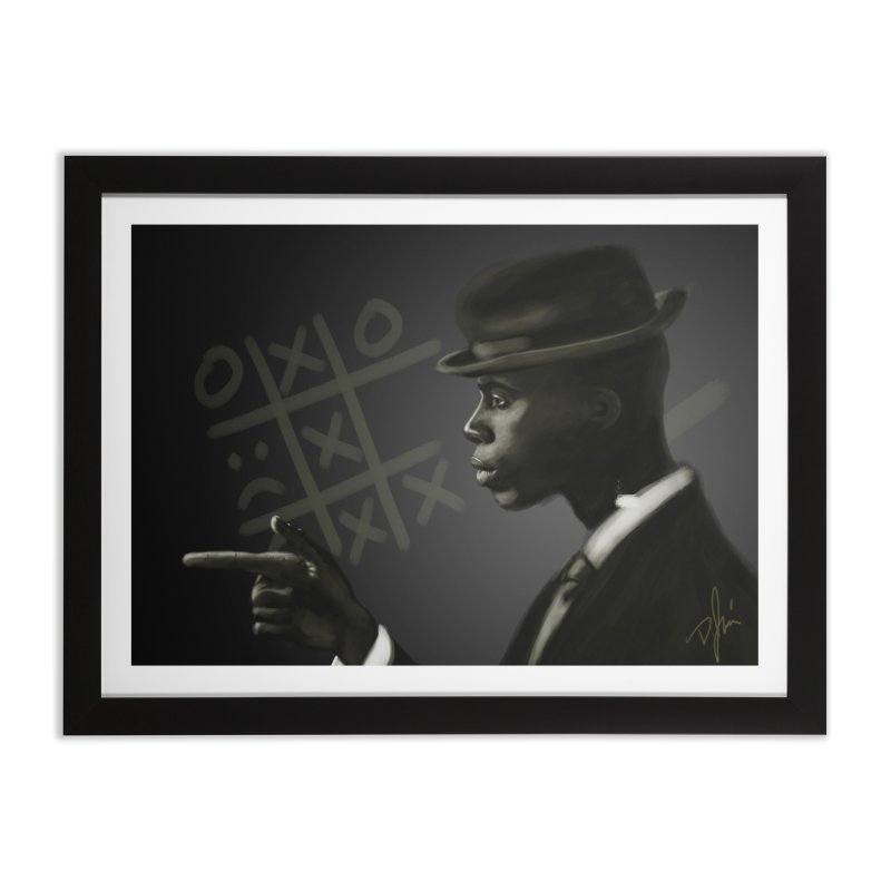 Tic Tac Toe Champion Home Framed Fine Art Print by Dijanni's Artist Shop