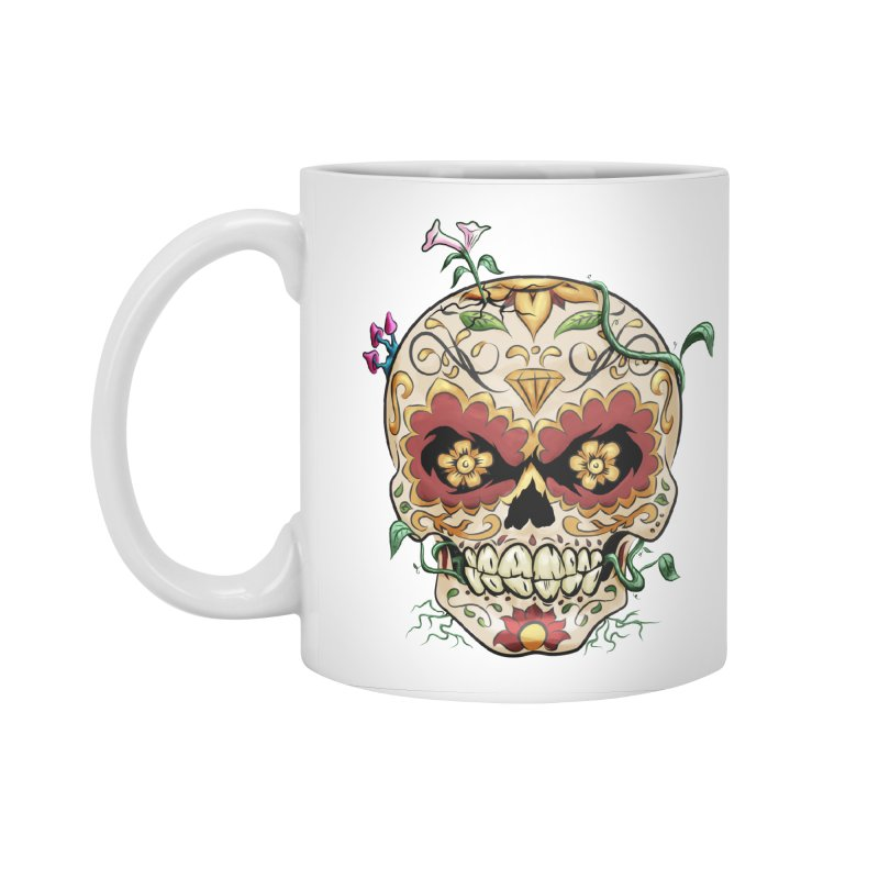 Sugar Skull Accessories Standard Mug by Dijanni's Artist Shop