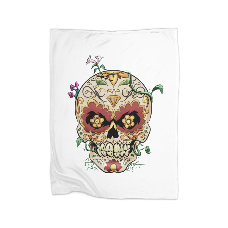 Sugar Skull Home Blanket by Dijanni's Artist Shop