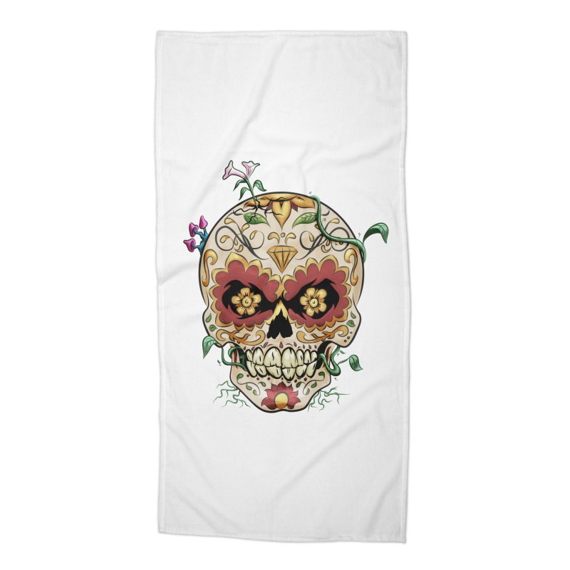 Sugar Skull Accessories Beach Towel by Dijanni's Artist Shop