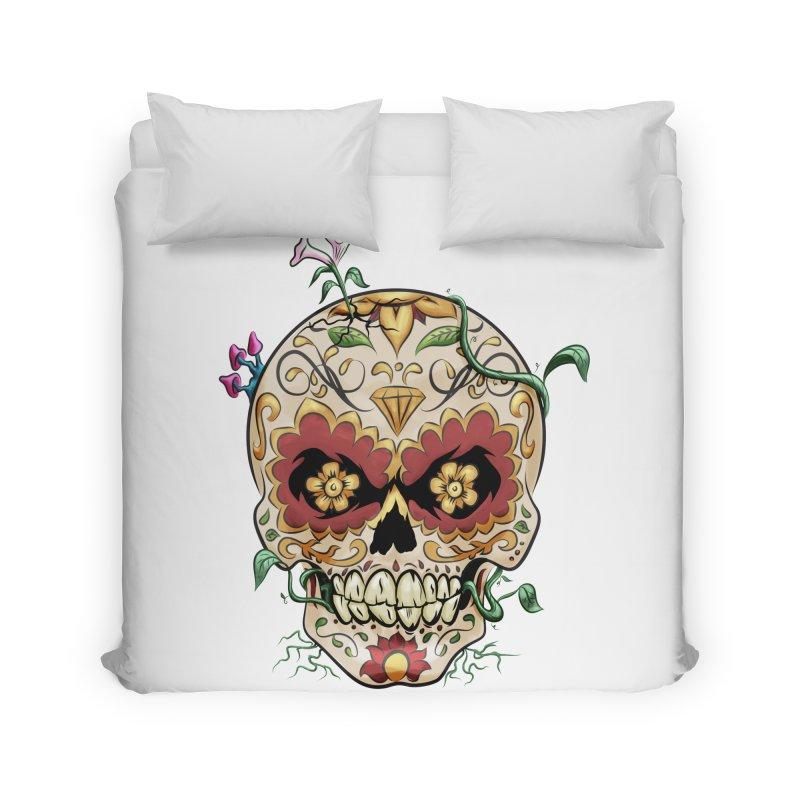 Sugar Skull Home Duvet by Dijanni's Artist Shop