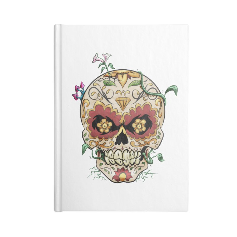 Sugar Skull Accessories Blank Journal Notebook by Dijanni's Artist Shop