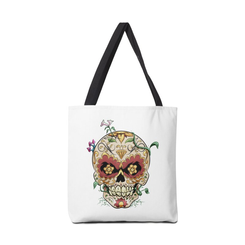 Sugar Skull Accessories Tote Bag Bag by Dijanni's Artist Shop