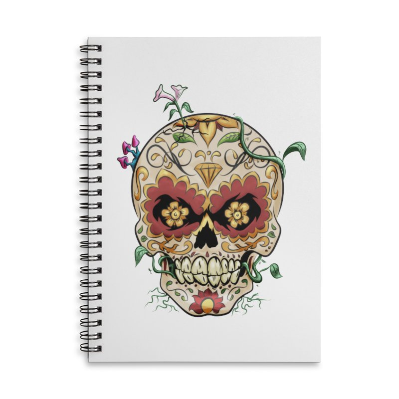 Sugar Skull Accessories Lined Spiral Notebook by Dijanni's Artist Shop