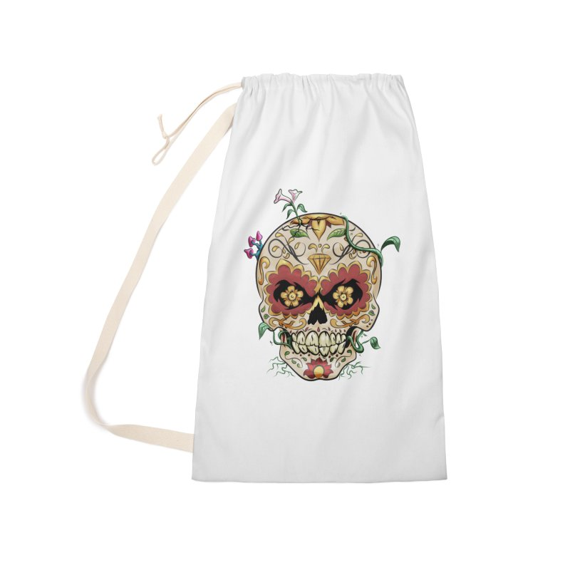 Sugar Skull Accessories Laundry Bag Bag by Dijanni's Artist Shop