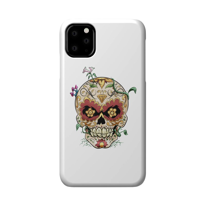 Sugar Skull Accessories Phone Case by Dijanni's Artist Shop
