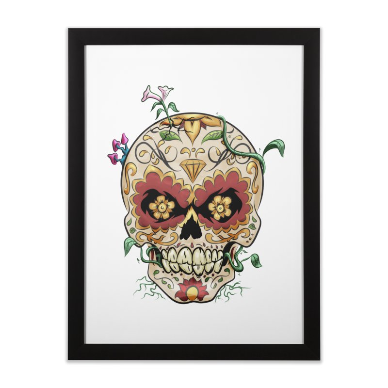 Sugar Skull Home Framed Fine Art Print by Dijanni's Artist Shop