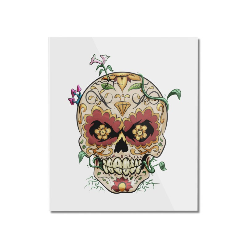 Sugar Skull Home Mounted Acrylic Print by Dijanni's Artist Shop