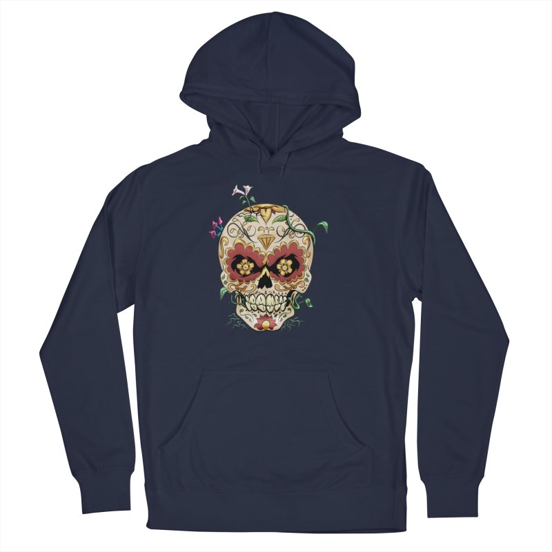 Sugar Skull Women's French Terry Pullover Hoody by Dijanni's Artist Shop