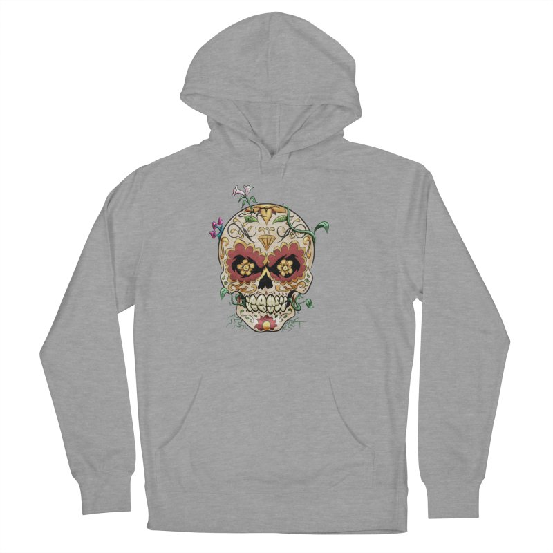 Sugar Skull Men's French Terry Pullover Hoody by Dijanni's Artist Shop
