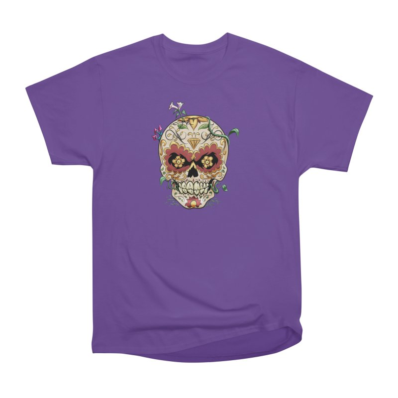 Sugar Skull Men's Heavyweight T-Shirt by Dijanni's Artist Shop