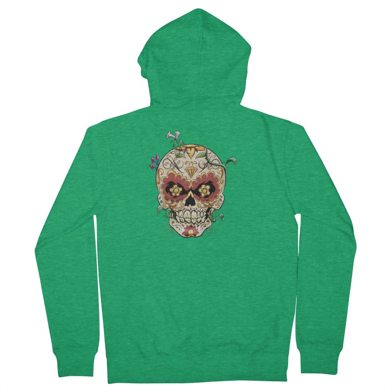 Sugar Skull Men's Zip-Up Hoody by Dijanni's Artist Shop