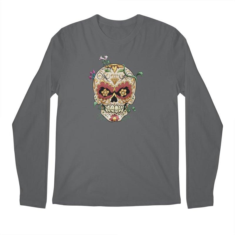 Sugar Skull Men's Longsleeve T-Shirt by Dijanni's Artist Shop