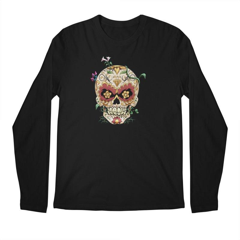 Sugar Skull Men's Regular Longsleeve T-Shirt by Dijanni's Artist Shop