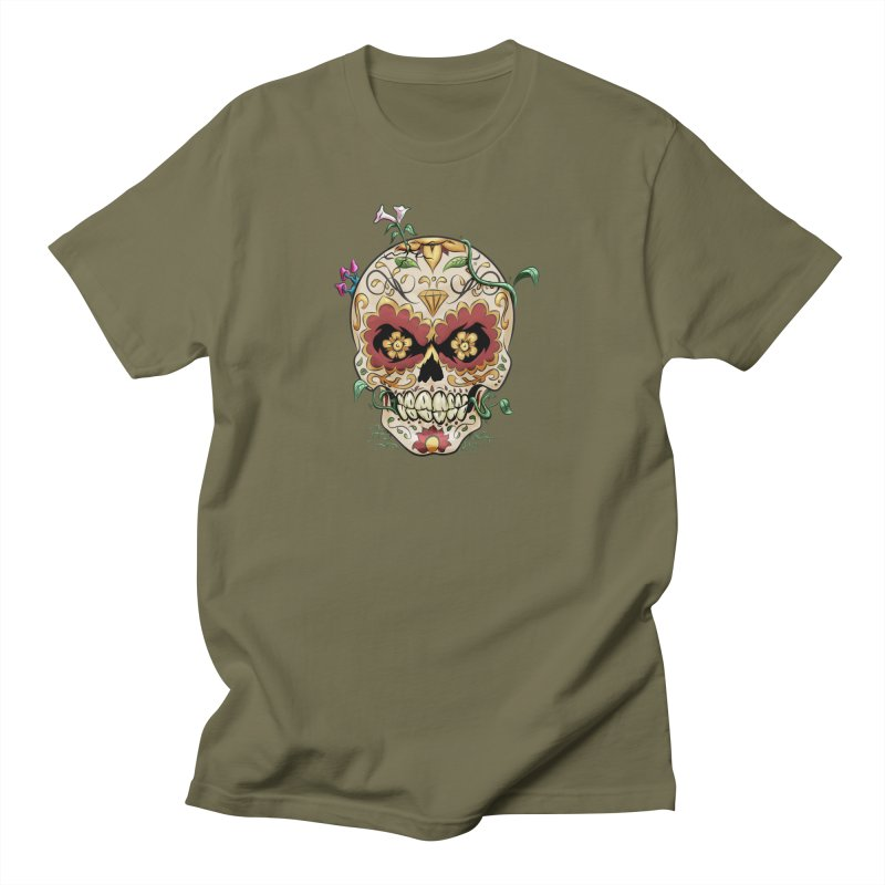 Sugar Skull Men's Regular T-Shirt by Dijanni's Artist Shop