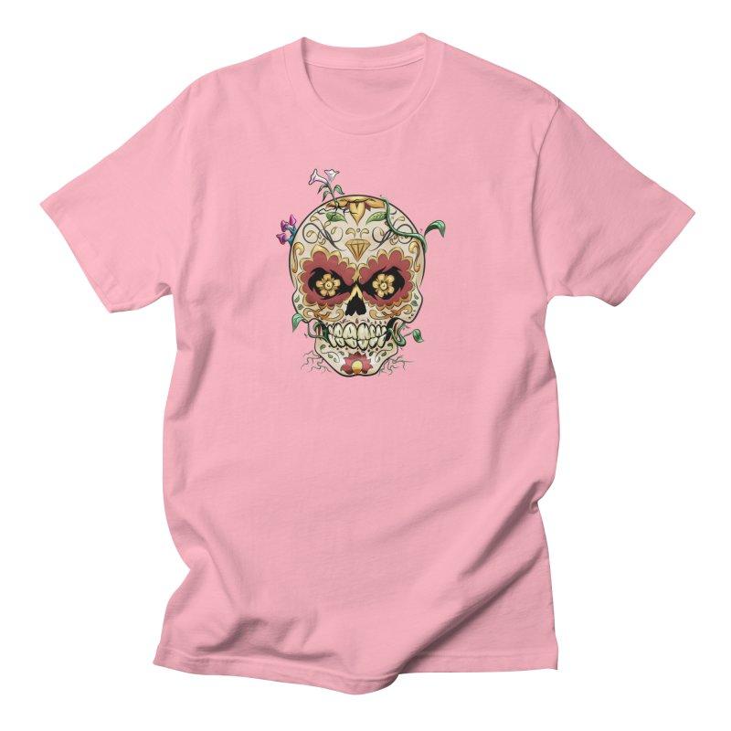 Sugar Skull Men's Regular T-Shirt by Dijanni's Artist Shop