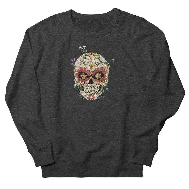 Sugar Skull Women's French Terry Sweatshirt by Dijanni's Artist Shop