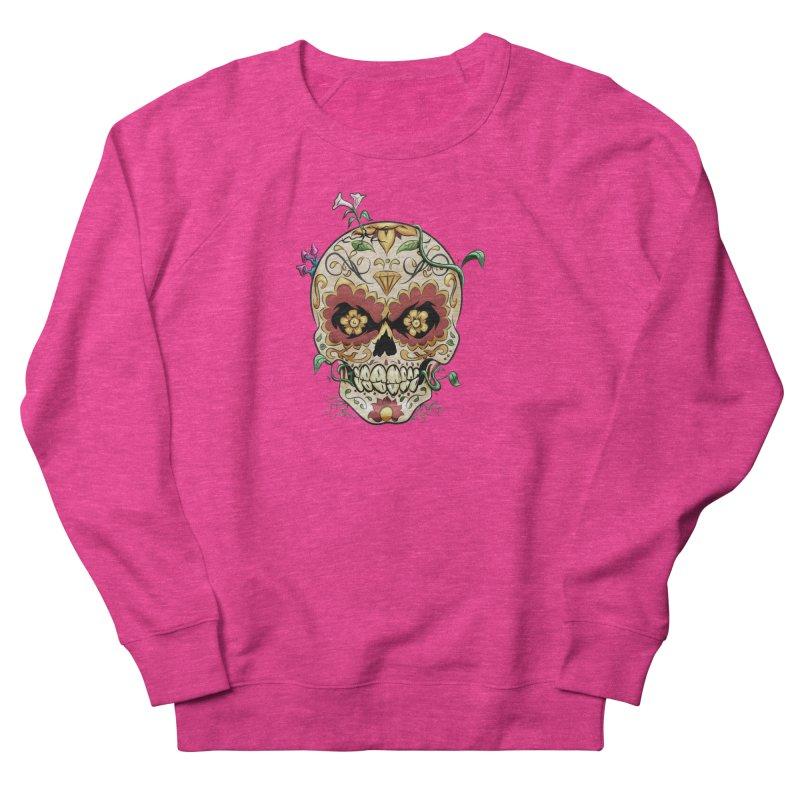 Sugar Skull Men's French Terry Sweatshirt by Dijanni's Artist Shop