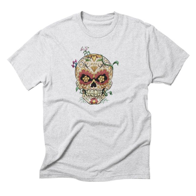 Sugar Skull Men's Triblend T-Shirt by Dijanni's Artist Shop