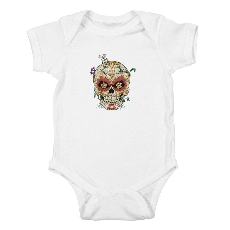 Sugar Skull Kids Baby Bodysuit by Dijanni's Artist Shop