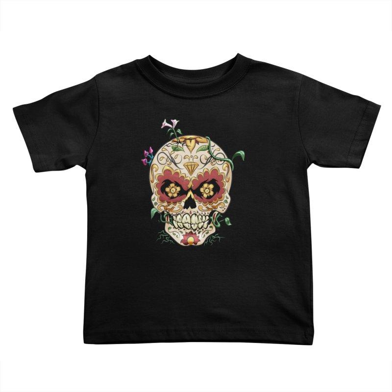 Sugar Skull Kids Toddler T-Shirt by Dijanni's Artist Shop