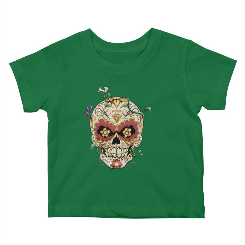 Sugar Skull Kids Baby T-Shirt by Dijanni's Artist Shop