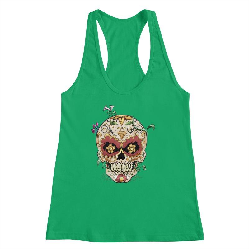 Sugar Skull Women's Racerback Tank by Dijanni's Artist Shop