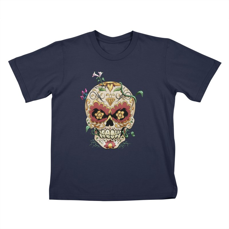 Sugar Skull Kids T-Shirt by Dijanni's Artist Shop