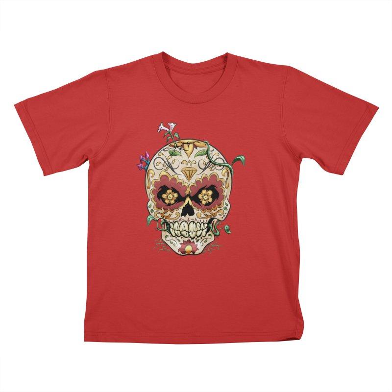 Sugar Skull Kids T-Shirt by Dijanni's Artist Shop