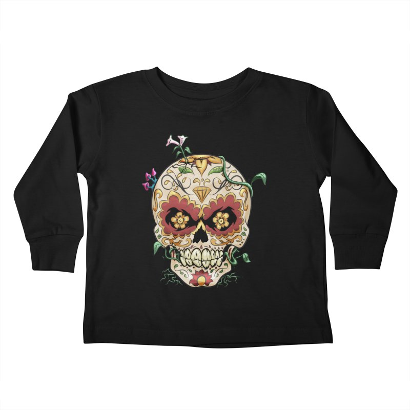 Sugar Skull Kids Toddler Longsleeve T-Shirt by Dijanni's Artist Shop