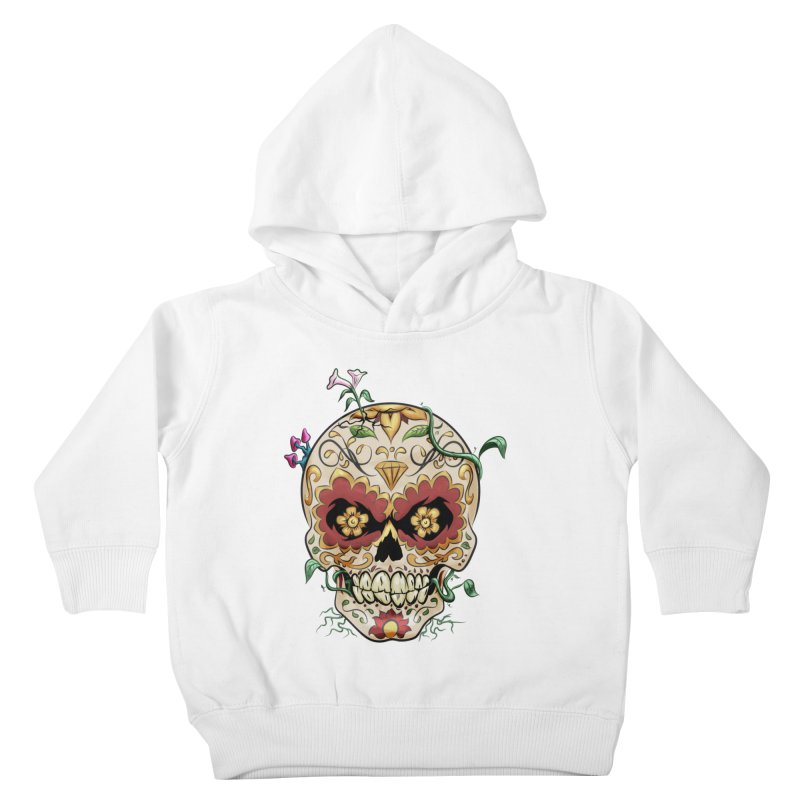 Sugar Skull Kids Toddler Pullover Hoody by Dijanni's Artist Shop