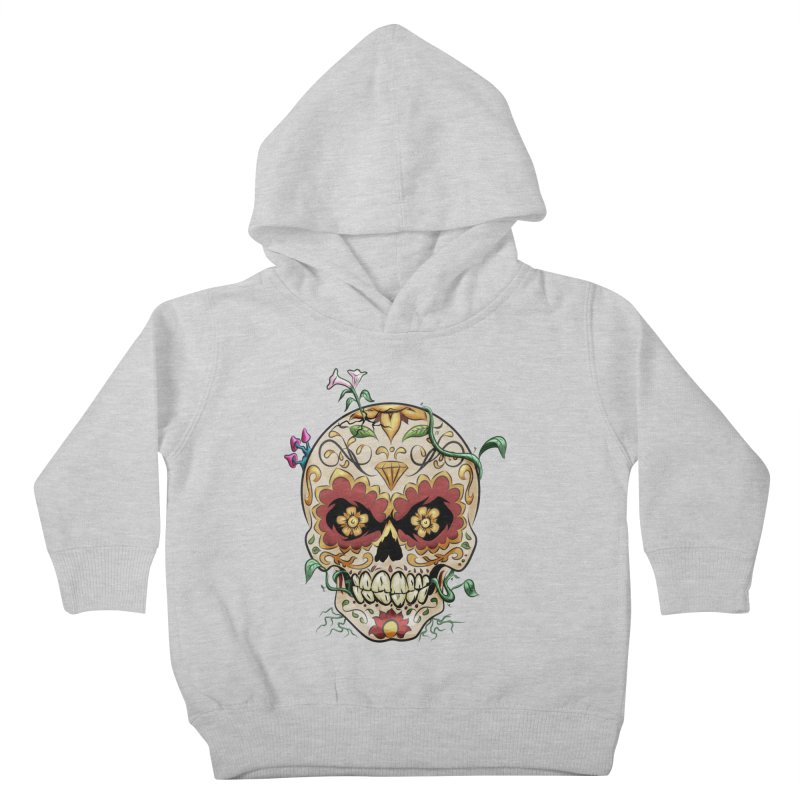 Sugar Skull Kids Toddler Pullover Hoody by Dijanni's Artist Shop