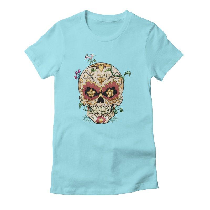 Sugar Skull Women's T-Shirt by Dijanni's Artist Shop