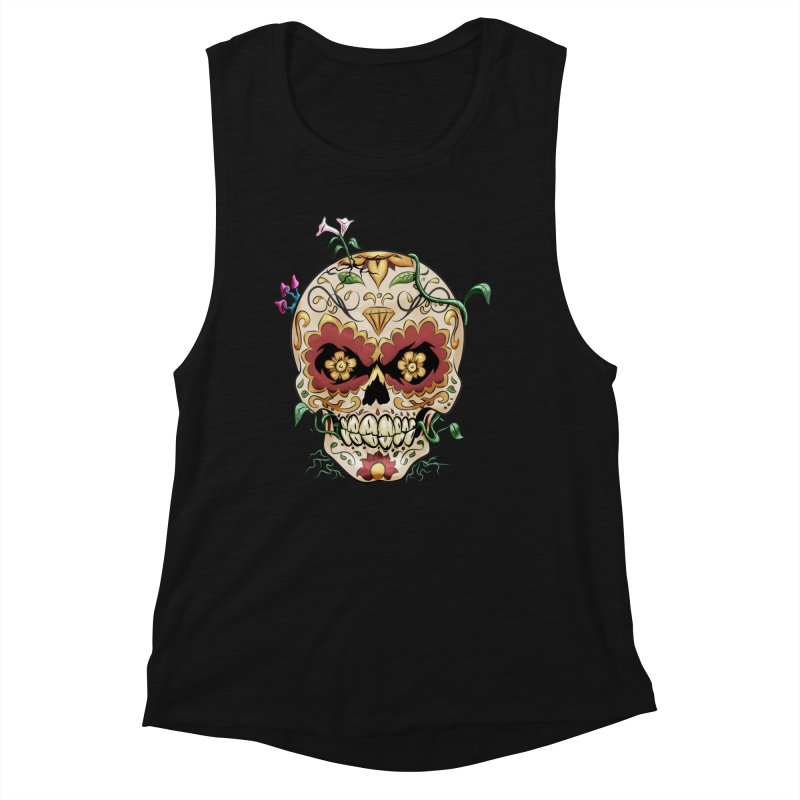Sugar Skull Women's Tank by Dijanni's Artist Shop