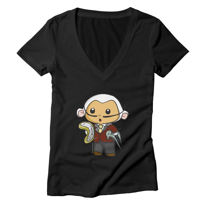 Salvador Lambì Women's V-Neck by Dino & Panda Artist Shop