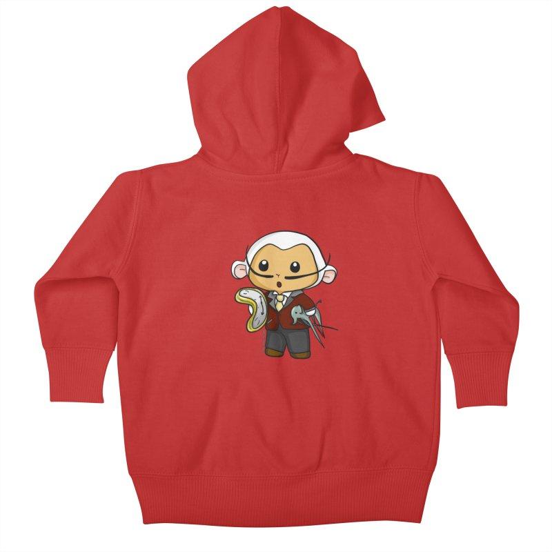 Salvador Lambì Kids Baby Zip-Up Hoody by Dino & Panda Artist Shop