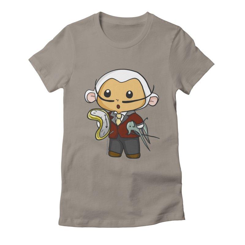 Salvador Lambì Women's Fitted T-Shirt by Dino & Panda Inc Artist Shop