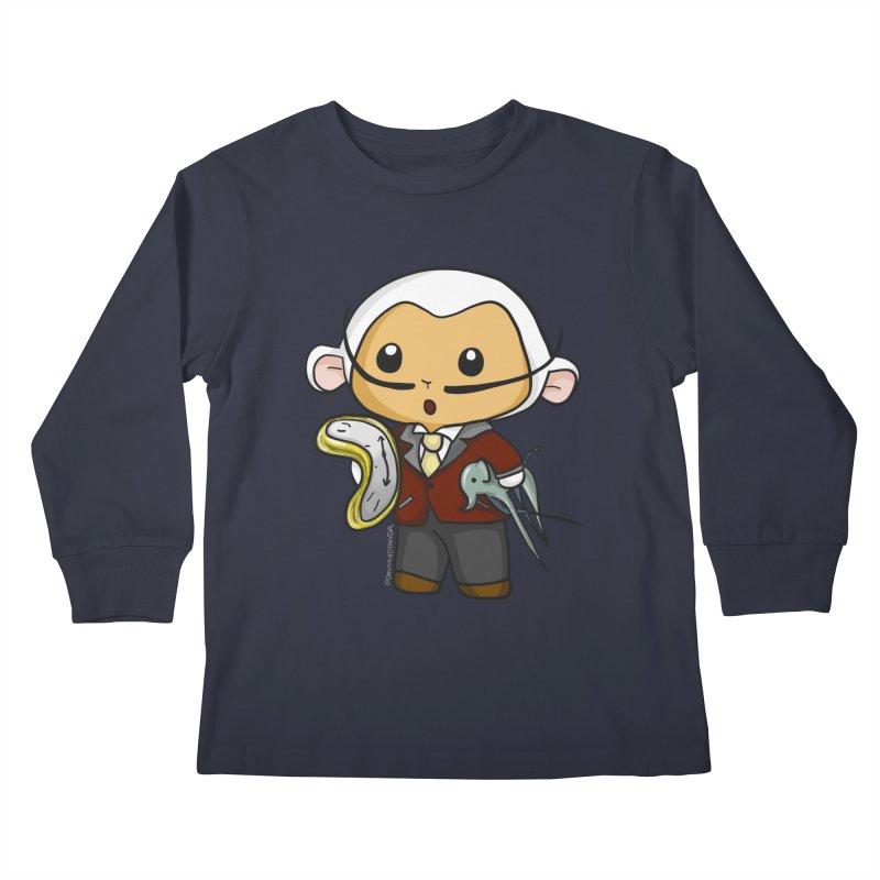 Salvador Lambì Kids Longsleeve T-Shirt by Dino & Panda Artist Shop