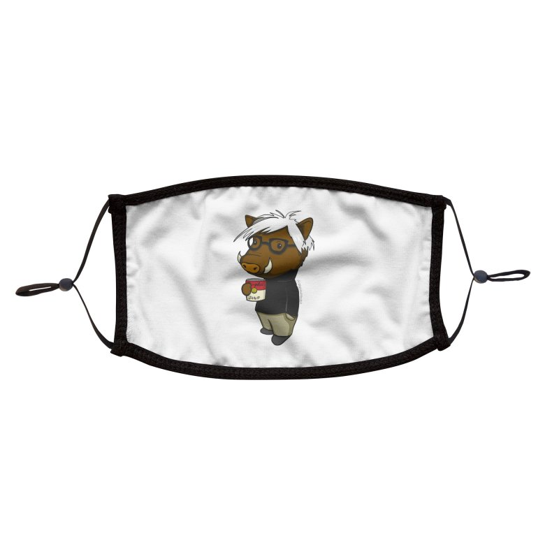 Andy Warthog Accessories Face Mask by Dino & Panda Artist Shop