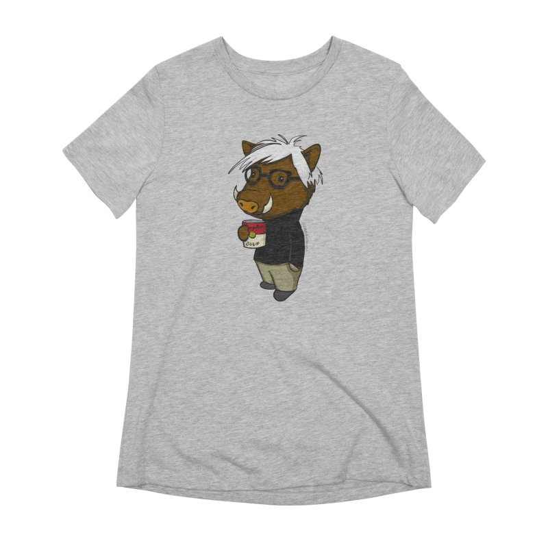 Andy Warthog Women's Extra Soft T-Shirt by Dino & Panda Inc Artist Shop